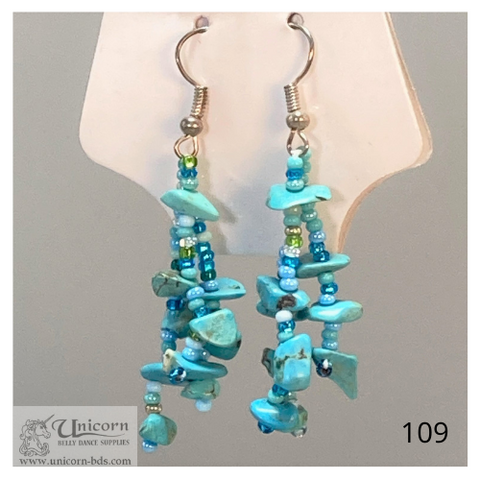 Earrings turquoise dangles