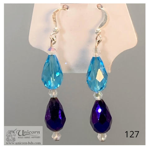 Earrings turquoise and blue drops