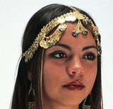 Metal Chain Headpiece with Coins on Young Girl