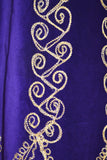 Purple Velvet Cover Up with Ornate Gold Embroidery Trim
