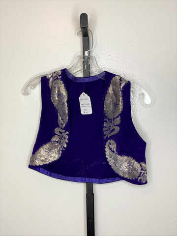 Vest ~ purple/ silver ~ small