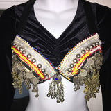 Tribal Style Bra with Decorative Kuchi Jewelry Pieces