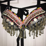 Tribal Style Kuchi Bra with Amulet