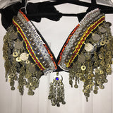 Unique Tribal Style Kuchi Bra with Amulet