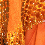 Elegant Hip Wrap/ Shawl ~ Beaded Crochet Trim  ~ Orange