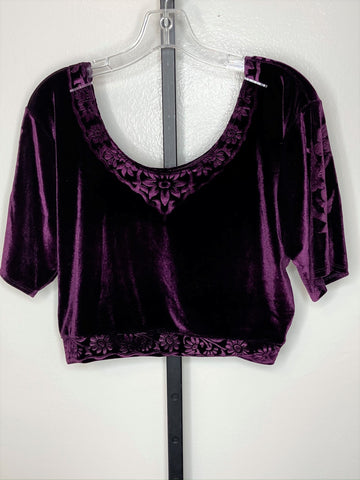 Short sleeve top ~ dark plum/ x-large