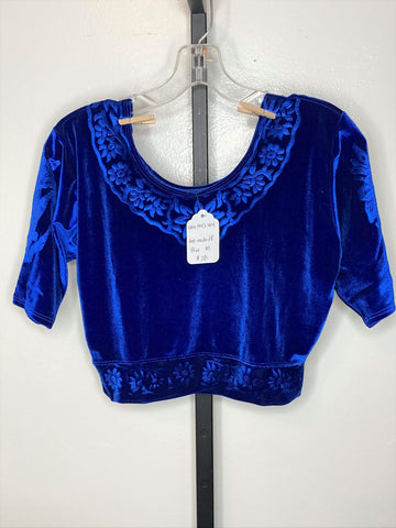 Short sleeve top ~ blue / medium