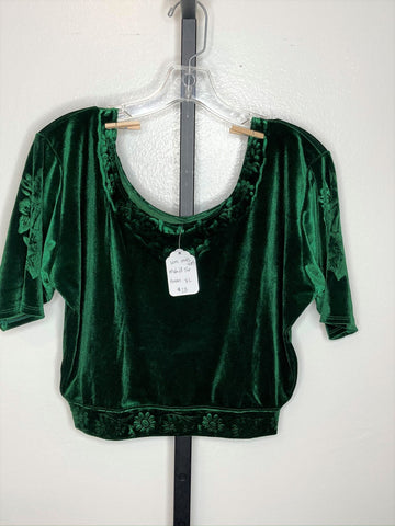 Short sleeve top ~  green / x-large