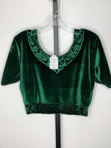 Short sleeve top ~  green / large
