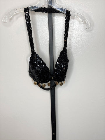 Bra ~ black sequin ~ C