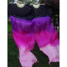 Silk Fan Veils ~ Four color ~ Black/ Purple/ Magenta/ Baby Pink