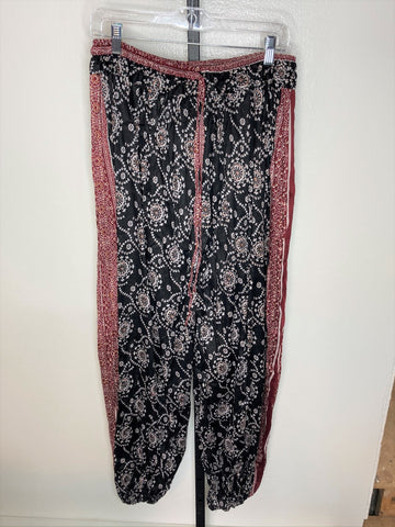 Pantaloons ~ tribal pattern ~ black/ rust