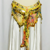 Habibi Coin Hip Wrap ~ Yellow Jungle print