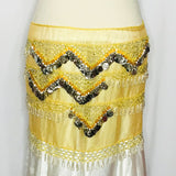 Fancy Coin Hip Wrap ~ Yellow & Silver