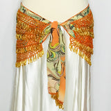 Fancy Coin Hip Wrap ~ Orange Paisley