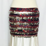 Fancy Coin Hip Wrap ~ Red Plaid Paisley