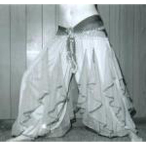 Belly Dance Harem Pants ~ Ruffled Satin