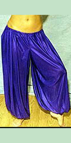 Belly Dance Harem Pants on Dancer - Purple