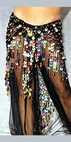 Beaded Belly Dance Harem Pants ~ Sheer