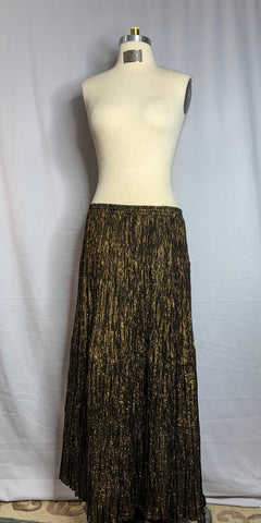 Black & Gold Metallic Broom Stick Skirt - Unicorn Belly Dance Supplies