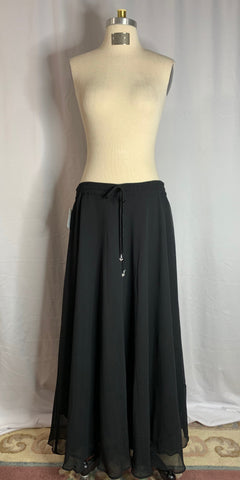 Black Chiffon 2 Layer Skirt