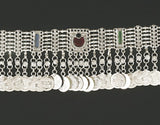 Afghani Style Silver Choker Necklace with Coins