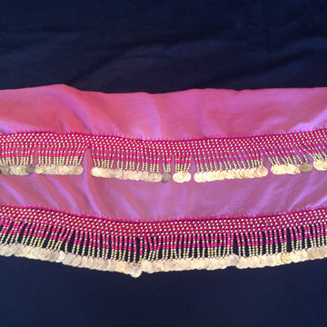 Coin Hip Wrap ~ Rose / Pink