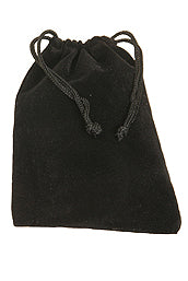 Zil Storage & Transport Bag ~ Black Velvet with Drawstring Top