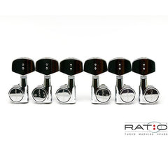 Acoustic Guitar Ratio Machine Heads  3+3