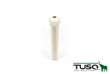 TUSQ Traditional Bridge Pins White With 2mm Blk Dot