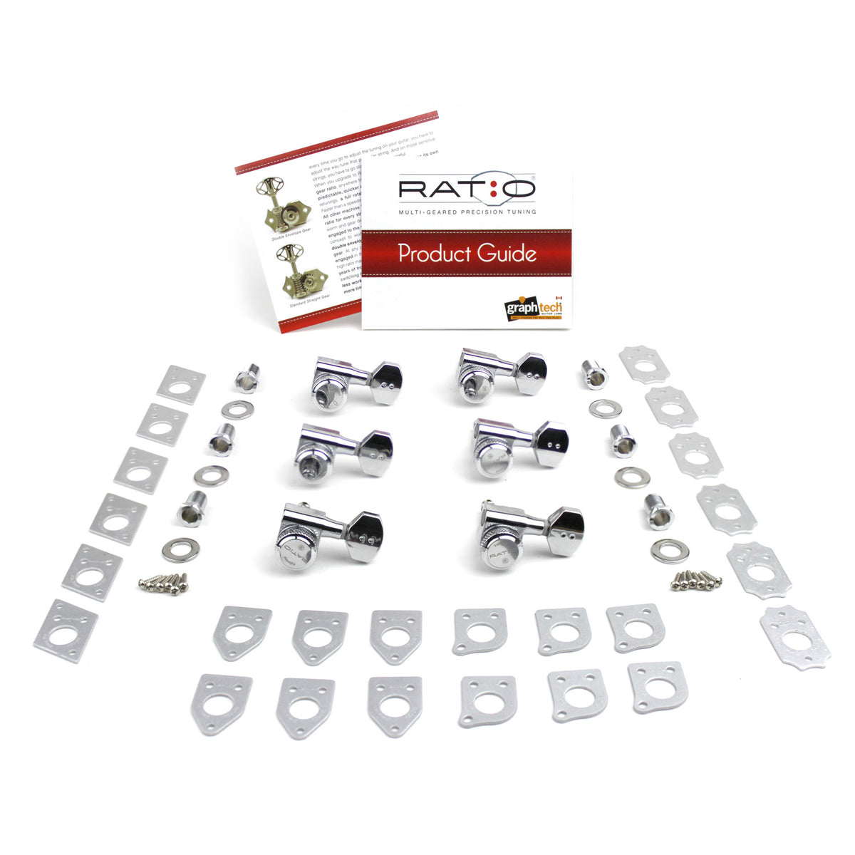 Ratio Electric Locking Machine Heads 6 in-line (staggered