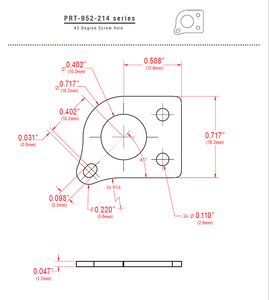 Individual InvisoMatch Plate for Ratio Tuners, 45 degree Screw Hole - Graph Tech Guitar Labs Ltd.