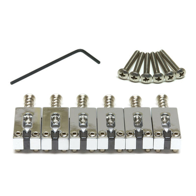 "String Saver Classics Strat & Tele Style Saddles 2 1/16"" String Spacing - Chrome - Graph Tech Guitar Labs Ltd."