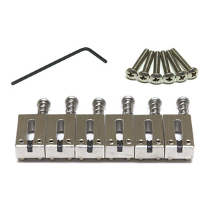 String Saver Classics Strat & Tele Style Saddles Offset -  Brushed Aluminum