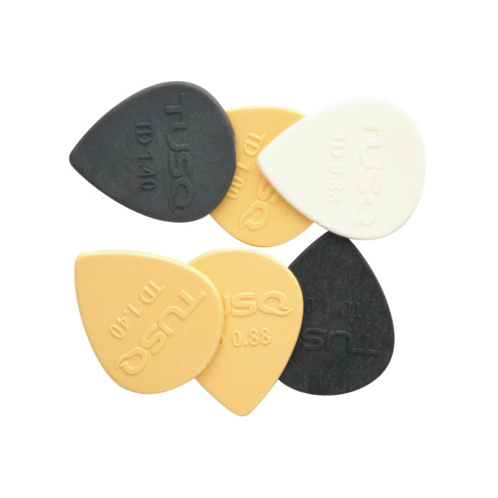 TUSQ Tear Drop Pick mixed 6 Pack