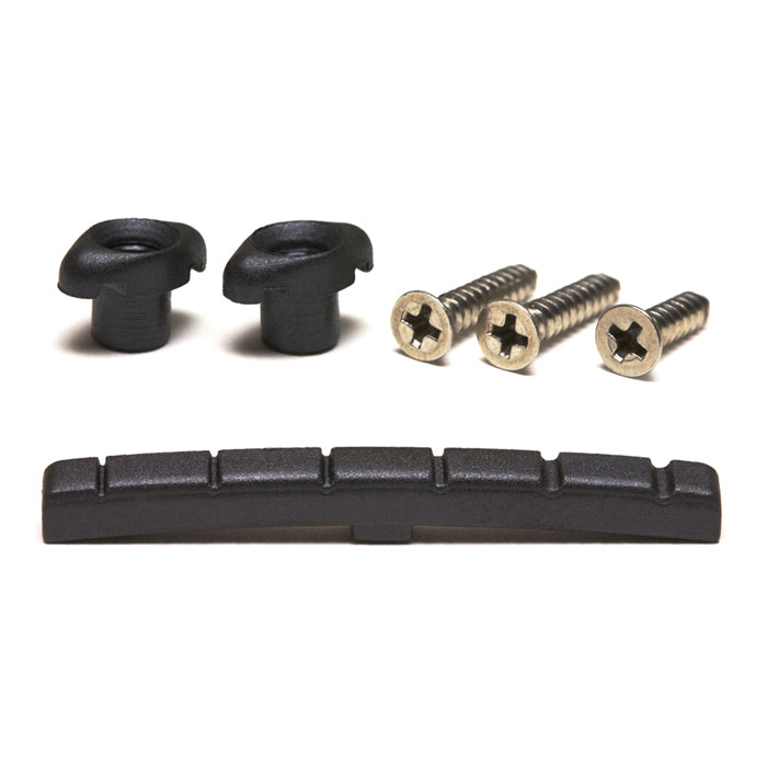 Black TUSQ XL Slotted Nut & Retainer Pack PT-5001-00 - Graph Tech Guitar Labs Ltd.