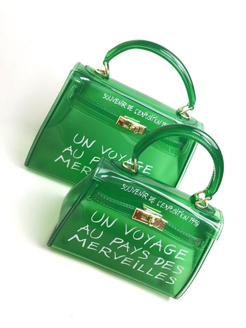 Crystal green voyage bag