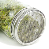 Stainless Steel Sprouting Lid and Ring for Wide Mouth Mason Jars