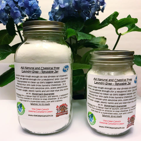 All Natural Laundry Soap - Reusable Jar Program