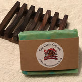 All Natural Bar of Soap with Handcrafted Wooden Holder