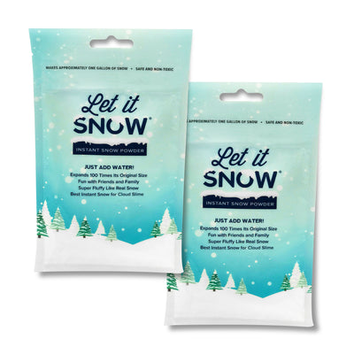 Let it Snow Instant Snow Powder for Cloud Slime - Premium Fake Artificial Snow