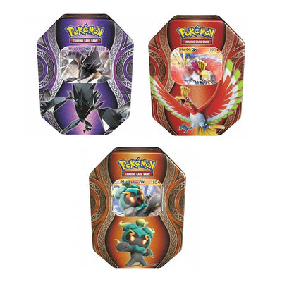 ALL 3 Pokemon Mysterious Powers 2017 GX Booster Tins Set! Ho-oh, Necrozma, & Marshadow!
