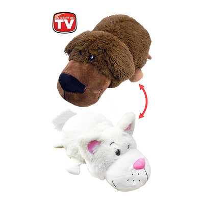 Chocolate Labrador to White Cat Flipazoo Stuffed Animal - New With Tags