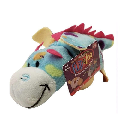 "Flipazoo Mini Popcorn Unicorn to Jellybean Dragon Flipazoo 5"" Stuffed Animal - New With Tags"