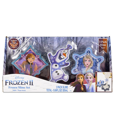 Disney Frozen 2 Slime Kit for Girls - 3 Packs of Slime Olaf, Elsa & Anna Shaped Containers, 3 Ounces of Slime in Each