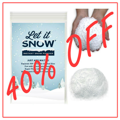 Let it Snow Instant Snow Powder 40% Off Special