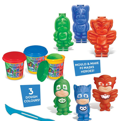Cra-Z-Art PJ Masks Softee Dough 3D Maker Action Figure Mold N Play, Red, Blue, Green Toy for Kids