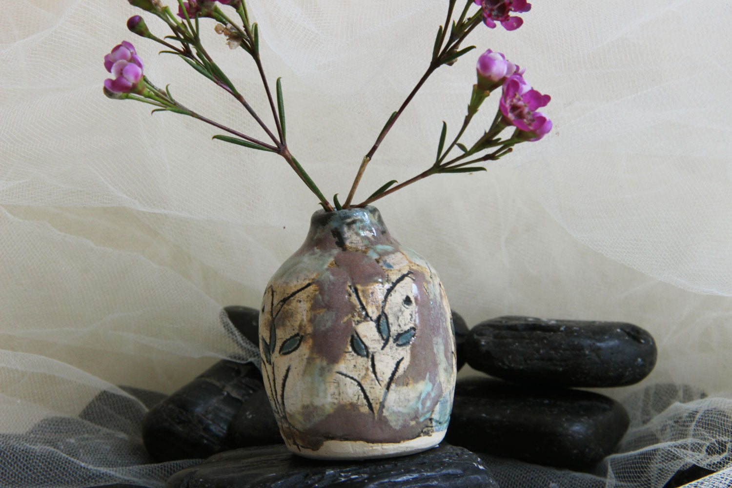 beautiful-unique-carved-flower-handmade-ceramic-stoneware-bud-vase