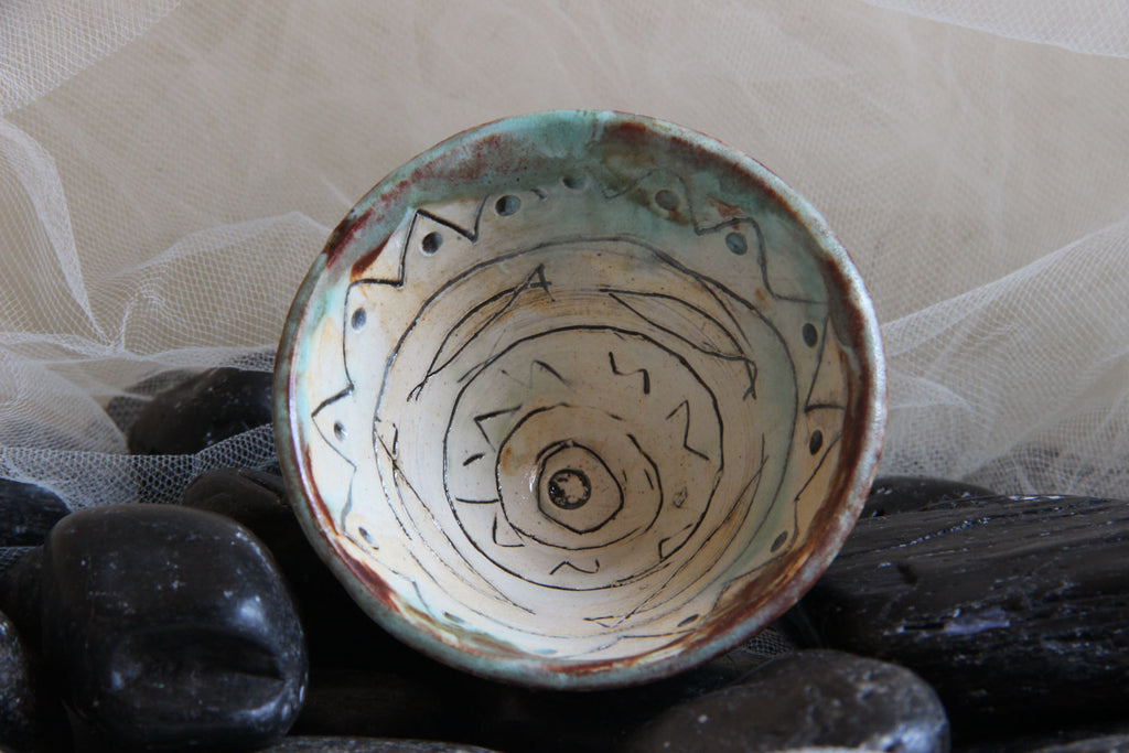 unique-handmade-small-carved-funnel-shaped-ceramic-trinket-dish