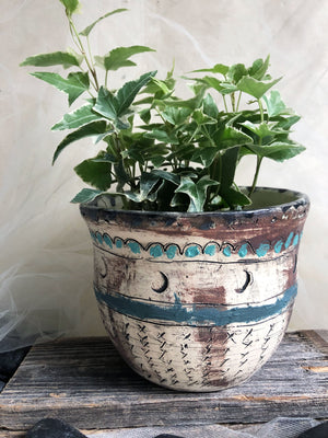 carved-unique-handmade-stoneware-flower-pot